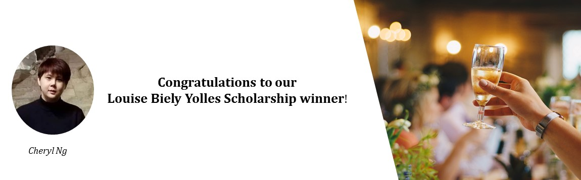 Congratulations to our Louise Biely Yolles Scholarship winner